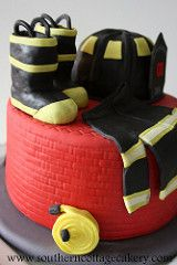 Cute #Firefighter #Cake