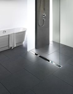Viega Visign shower drain from glas