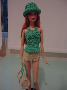 Barbie Peplum Tank Top (Free Crochet Pattern)