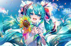 Vocaloid, Hatsune Miku Birthday, Miku Chan, Aqua Hair, Free Anime, Hair Ornaments, Anime Shows, Best Funny Pictures, Kawaii