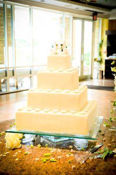 lego wedding cake | photo by jannelle mimms, darling studios, atlanta, georgia http://darlingstudios.biz