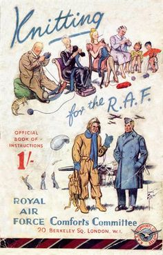 WWII - Knitting for the RAF ~ a couple of patterns available on the link.