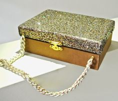 Mignon Bag Gold Glitter