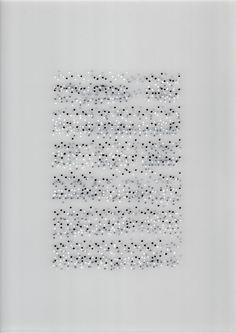 ANA PÉREZ VENTURA - Neuma nº 5 (Chopin, Étude op. 10 nº 10), 2014. Permanent marker on pvc. 42 x 29,7 cm.