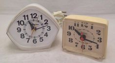 McGraw-Edison Electric Model White and Sunbeam Alarm Clock , EUC Electric Clock, Clocks For Sale, Selling On Ebay, Cooking Timer, Alarm Clock, Model, Projection Alarm Clock, Alarm Clocks