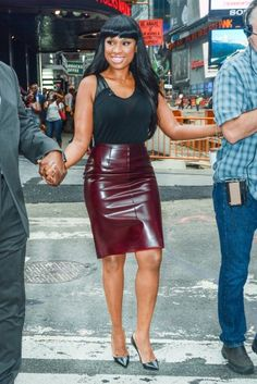 Black Leather Hobble Skirt Black Leather Top and Black ...
