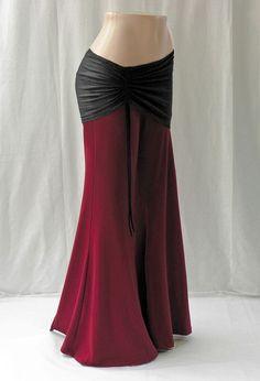 Black and rose red mermaid skirt.