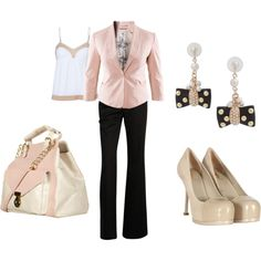 Pink Blazer With Pink And Beige Accents :)