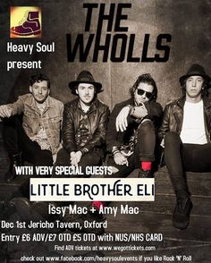 Excited about this gig with @thewholls in #Oxford CLICK: http://ift.tt/2gadt6p #livemusic #rock #newmusic