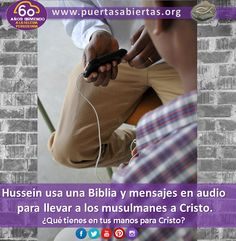 Hussein se reúne en secreto, comparte mensajes y la Biblia en audio en medio de persecución extrema. Oremos por su ministerio  y para que más musulmanes reciban el amor de Cristo. https://www.puertasabiertas.org/noticias/testimoniohussein20151102