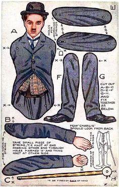 Charlie Chaplin paper doll
