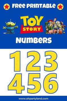 toy story numbers free printable #toystory #freeprintable #toy #story #numbers #printables