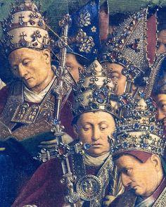 Ghent Altarpiece- Popes by Jan van Eyck