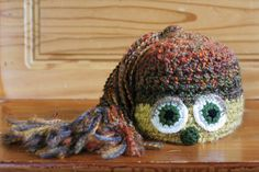 Monster Hat: AUTUMN! | Available exclusively on Monster Hat Island! Check out all the one-of-a-kind crochet monster hats at monsterhatisland.com.
