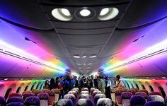 Boeing 787-9 interior LED lights