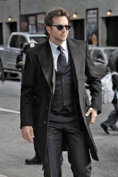 Bradley Cooper | perhaps a bit somber but great street fashion