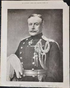 "Original World War I Poster of General Sir Douglas Haig 1916 16"" x 20.5"""