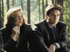 "Scully and Mulder from ""The X-Files"" played by Gillian Anderson and David Duchovny. I absolutely love them..."
