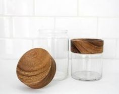 Wood Glass Canisters Remodelista