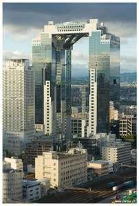 梅田スカイビル(大阪) Umeda Sky Building in Osaka, Japan. I saw this and it was totally awesome!!