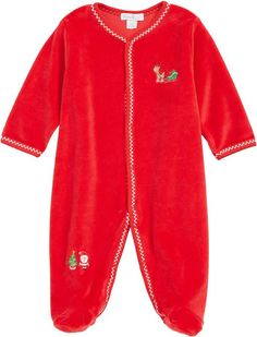 Kissy Kissy  Tis the Season Velour Footie  ad Happy Christmas Day a88f08ff8