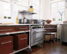 A Low-Budget, Sleek & Unusual Kitchen Cabinet Solution ELLE Decor
