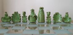 In the style of my animal sculptures, I have made a chess set. I am a local San Francisco ceramic artist who has been creating ceramic pieces for 20