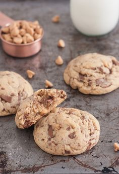 SUPER THICK Peanut Butter Chocolate Chunk Cookies