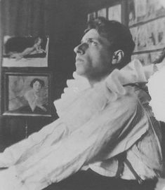 Russian symbolism - Vsevolod Meyerhold in his production of Alexander Blok's Puppet Show (1906).