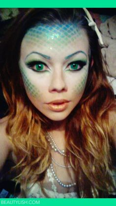 halloween-mermaid-makeup.jpg (600×1066)