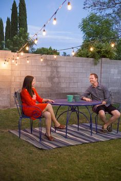 Creating a Romantic Backyard Date Space - Perfect for at home date nights all spring and summer long. Skip the restaurant and babysitter and get the same patio vibe with your own backyard oasis on a budget!  MyOutdoorOasis   #AD @lowes