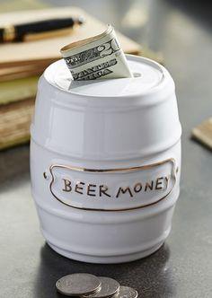 Beer Money Piggy Bank #giftsforhim