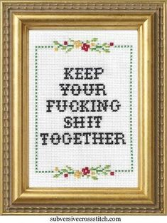 PDF: Keep Your Fucking Shit Together