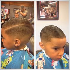 Kids combover with hard part Boy Hairstyles, Haircuts, Hard Part Haircut, Combover, Boys Style, Boy Fashion, Hair Styles, Kids, Baby