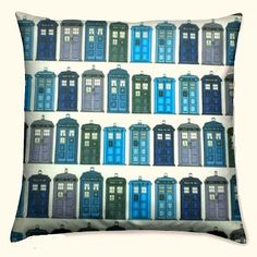 Tardis Cushion, Dr Who Cushion - where can I find this fabric? I have to have this pillow!!!