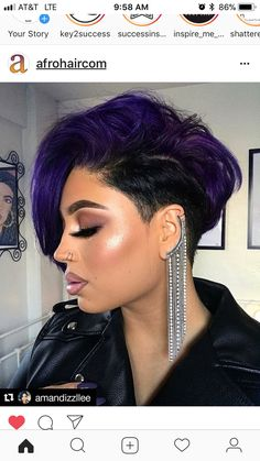 25 Hot and Sexy Shaved Sides Hairstyles You Should Try ASAP - kurzhaarfrisuren Short Weave Hairstyles, Shaved Side Hairstyles, Black Girls Hairstyles, Hairstyles 2018, Fashion Hairstyles, Female Hairstyles, Ethnic Hairstyles, School Hairstyles, Casual Hairstyles