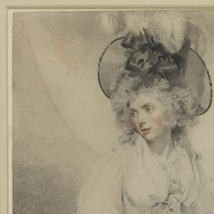 This important drawing of Mary Hamilton is arguably the most beautiful female portrait of its type remaining in this country. It is by Sir Thomas Lawrence (1769-1830), recognised as one of the nation's greatest artists. Lawrence was great friends with William Hamilton (1751-1801), a history and portrait painter and Royal Academician. They used to draw together in the evenings from antique casts while William's wife Mary read to them 'either poetry, history, or works of the imagina...