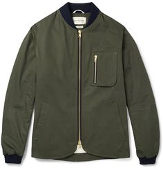 Oliver Spencer - Lambeth Cotton Bomber Jacket|MR PORTER