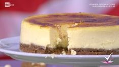 """""""Detto Fatto"""": la ricetta della cheesecake crème brulée di Francesco Saccomandi del 29 gennaio 2018. Un dolce squisitamente americano."""