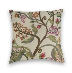 Orange Floral Pillow Cover 18x18 or 20x20 by CodyandCooperDesigns