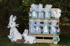 Peter Rabbit themed 1st birthday party via Kara's Party Ideas KarasPartyIdeas.com Printables, tutorials, cake, decor, cupcakes, recipes, favors, etc! #peterrabbit #peterrabbitparty #beatrixpotter (10)