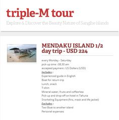 explore and discover the beauty nature of Sangihe islands.  Triple-M Tour +62-821-947-55-831