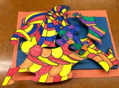 Paper relief sculpture (6th grade)