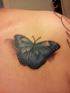 I will have Hashimoto's (autoimmune disease/thyroid) for the rest of my life so why not get a 3D tattoo of a blue butterfly that supports Thyroid Disease.  I love it!!