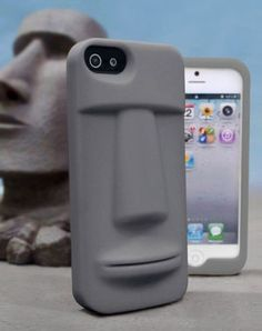MOAI IPHONE CASE I dont have an iPhone, but I love this case!! | Raddest Men's Fashion Looks On The Internet: http://www.raddestlooks.org