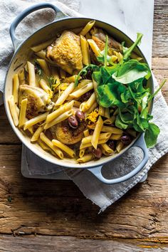 An easy weeknight supper that pairs well with a Pinot Noir. Prepared in the Le Creuset Signature Round Casserole.  Credit: Woolworths TASTE/Toby Murphy. Rosemary Chicken, Winter Warmers, Le Creuset, Pinot Noir, Penne, Casserole, Pairs, Orange, Ethnic Recipes