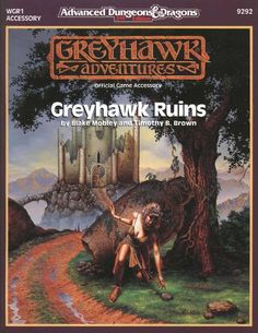 WGR1 Greyhawk Ruins (2e) - Greyhawk | Book cover and interior art for Advanced Dungeons and Dragons 2.0 - Advanced Dungeons & Dragons, D&D, DND, AD&D, ADND, 2nd Edition, 2nd Ed., 2.0, 2E, OSRIC, OSR, d20, fantasy, Roleplaying Game, Role Playing Game, RPG, Wizards of the Coast, WotC, TSR Inc. | Create your own roleplaying game books w/ RPG Bard: www.rpgbard.com | Not Trusty Sword art: click artwork for source