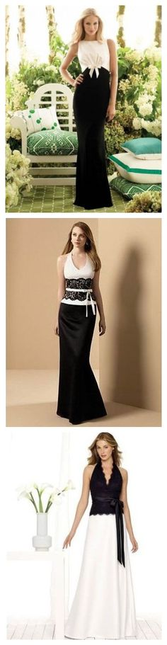 c0ef67fb985 black and white bridesmaid dress  blackbridesmaid Black Bridesmaids