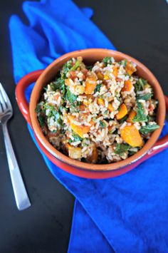 Butternut Squash Rice Bowl -- add your favorite protein (black beans for vegan, leftover chicken, pork tenderloin, etc.) to turn this into a hearty, healthy one-dish meal for 2 on Phase 1.