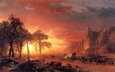 The Athenaeum - Emigrants Crossing the Plains (Albert Bierstadt - )